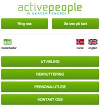 Activepeople AS - Oppdatert hjemmeside august 2014